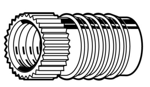Insert voor kunststof, Fin-Fix Messing CU2/CU3