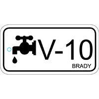 Brady Tag energiebron klep 10 25PC