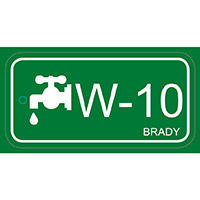 Brady Energy source tag water 10 25PC