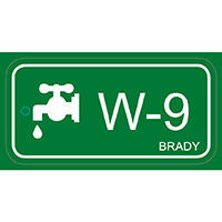 Brady Energy source tag water 9 25PC