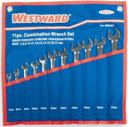 Westward Combination spanner sets SET 7-17MM