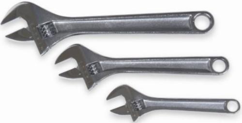 Westward Adjustable spanners 1NYB8 3PC CHROME