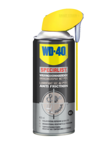 WD-40 Droogsmeerspray Wrijvingsverminderende Droogsmeerspray met PTFE PFTE Action 400 ml