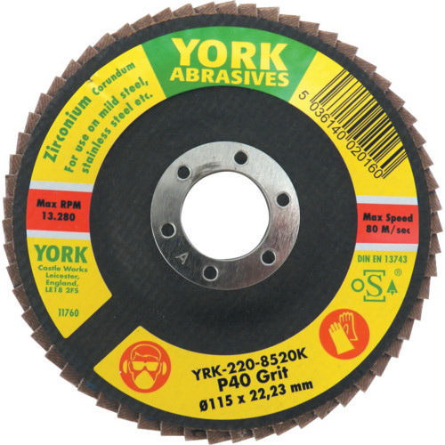York Flap disc 180X22MM P60