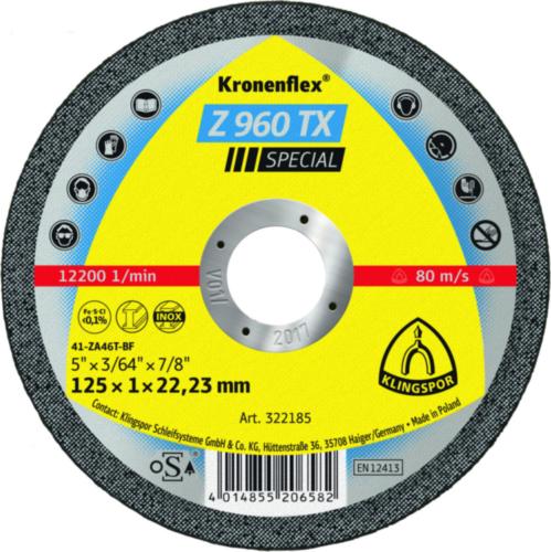 Klingspor Cutting wheel 125X1X22,23