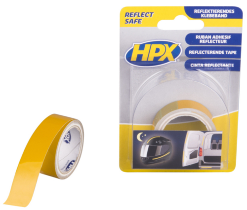 HPX Safety & marking tape Fluorescent yellow 19MMX1,5M