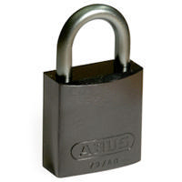 Brady Full alu padlock 25MM SHA KD BLACK 6PC