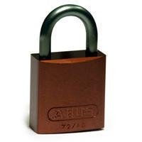 Brady Full alu padlock 25MM KD BROWN 6PC