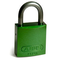 Brady Full alu padlock 25MM SHA KD GREEN 6PC