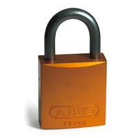 Brady Full alu padlock 25MM SHA KD ORANGE 6PC