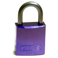 Brady Full alu padlock 25MM SHA KD PURPLE 6PC