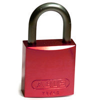 Brady Full alu padlock 25MM SHA KD RED 6PC