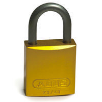 Brady Full alu padlock 25MM SHA KD YELLOW 6PC