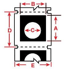 Brady Raised Profile Label B30EP-167U-593-BK 200PC