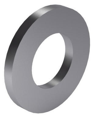 Plain washer DIN 125-1A Steel Zinc plated 140 HV M1,6