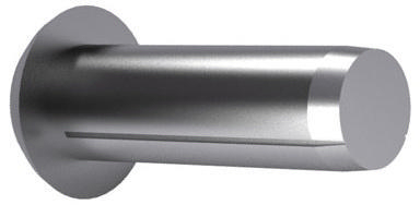 Grooved pin with round head DIN 1476 Steel Plain