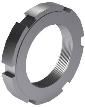 Tuerca cilindrica moleteada MF DIN 1804 W Acero Sin revestimiento |5|