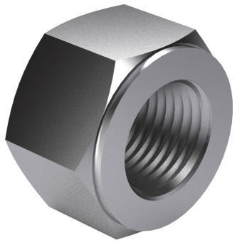 Hexagon nut for double end stud with reduced shank DIN 2510 NF Steel C35E+QT (1.1181) Plain