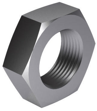 Hexagon thin nut MF DIN 936 Steel Plain 22H M16X1,50