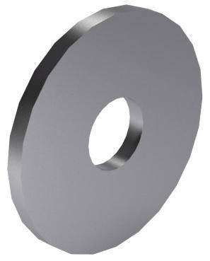 Plain washer, especially for wood constructions DIN 440 R Stainless steel A4