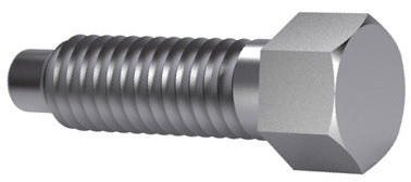 Small hexagon head set screw with full dog point DIN 561 Steel Plain 22H M16X70