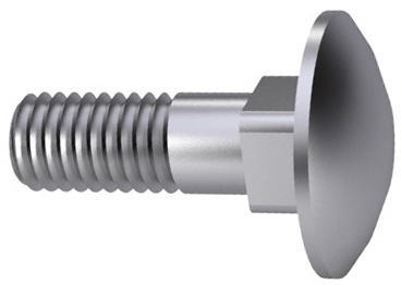 Carriage bolt UNC ASME B18.5 Steel SAE J429 Zinc plated Gr.5 1/4-20X3.1/2