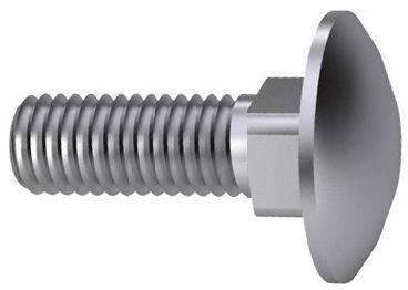 Carriage bolt fully threaded DIN ≈603 Stainless steel A2 M12X110