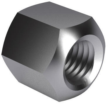 Hexagon nut 1,5D DIN 6330 B Steel Zinc plated 10 M6