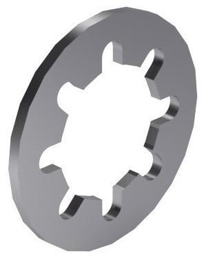 Internal tooth lock washer DIN 6797 J Spring steel