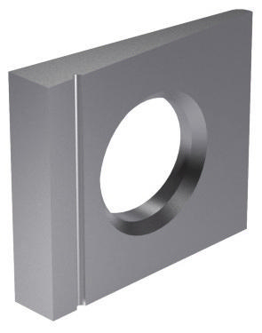 Square taper washer 14% for I-sections DIN 435 Stainless steel A2