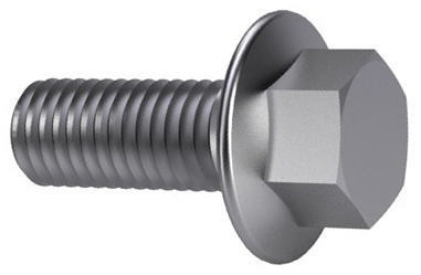 Hexagon flange bolt MF DIN 6921 Steel Plain 10.9 M10X1,25X70