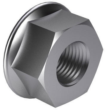Hexagon nut with flange DIN 6923 Stainless steel A2 70 M6