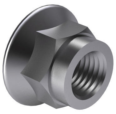 Prevailing torque type hexagon nut with flange all metal EN 1664 Steel Zinc plated 8