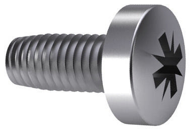 Cross recessed raised cheese head thread rolling screw Acero inoxidable (Inox) A2