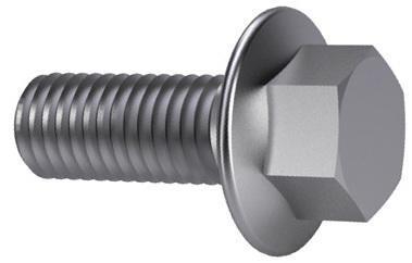 TAPTITE 2000® Hatlapfejű, peremes, menetnyomó csavar DIN ≈7500 Acél Horganyzott M4X10