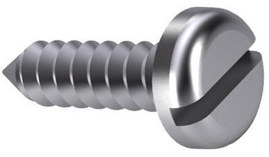 Slotted pan head tapping screw DIN 7971 C Steel Zinc plated black passivated