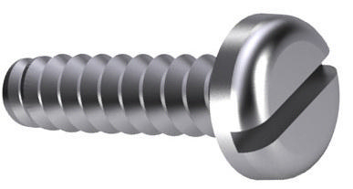 Slotted pan head tapping screw DIN 7971 F Steel Nickel plated without point