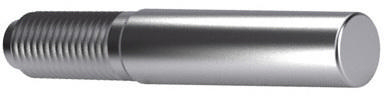 Taper pin with constant external thread DIN 7977 Free-cutting steel