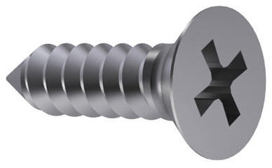 Cross recessed countersunk head tapping screw Phillips DIN 7982 C-H Stainless steel A2 ST2,9X6,5MM
