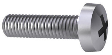 Cross recessed raised cheese head screw Phillips DIN 7985-H Steel Zinc plated 4.8 M2,5X4