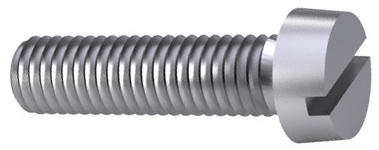 Slotted cheese head screw DIN ≈84 Plastic Polyamide (nylon) 6.6 M5X12