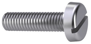 Slotted pan head screw DIN 85 Steel Zinc plated 4.8 M3X6