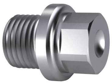 Hexagon head screw plug with collar, pipe thread DIN 910 Steel Zinc plated G3/4A