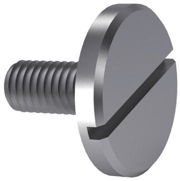 Slotted pan head screw large head DIN 921 Steel Zinc plated 5.8