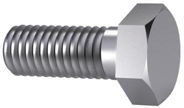 Hatlapfejű tövigmenetes csavar DIN 933 Acél Cink lamella Cr<sup>6+</sup>mentes - ISO 10683 flZnnc 8.8 DIN 933