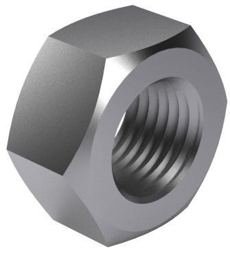 Hexagon nut MF DIN 934 Free-cutting steel Plain |6| M10X1,00