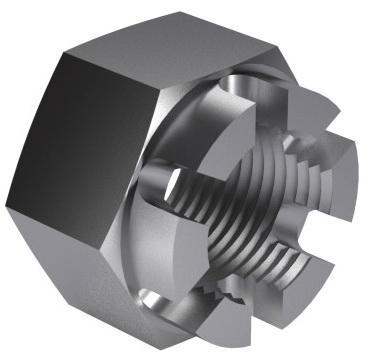 Hexagon slotted and castle nut DIN 935-1 Stainless steel A4