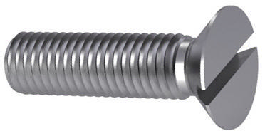 Slotted countersunk head screw DIN 963 Steel Zinc plated black passivated 4.8 M4X25
