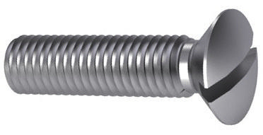 Slotted raised countersunk head screw DIN 964 A Steel Zinc plated 4.8