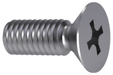 Cross recessed countersunk head screw Phillips DIN 965 A-H Stainless steel A2 M6X50